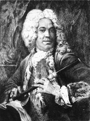 Michel de la Barre - Portrait presumed to be Michel de La Barre, anonymous etching, private collection.