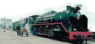 Monforte de Lemos - Old Mikado Machine, on Monforte's railroad station