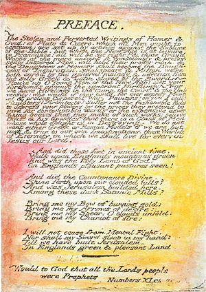1808 in poetry - The preface to Milton, as it appeared in author and artist William Blake's own illuminated version