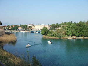 Mincio - The Mincio at Peschiera del Garda.