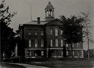 Campus of Bates College - Hathorn Hall in the 1920s