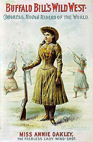 Victorian dress reform - Image: Miss Annie Oakley peerless wing shot