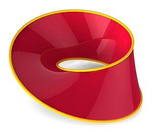 Möbius strip - A ray-traced parametric plot of a Möbius strip