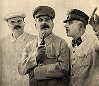 Molotov, Stalin a Vorošilov, 1937