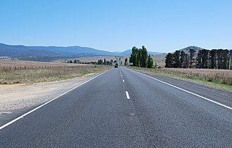 Monaro Highway - Heading north on the Monaro Highway, between Cooma and Bredbo