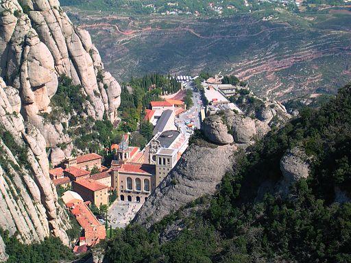 Monestir de Montserrat vista Roca de St. Jaume