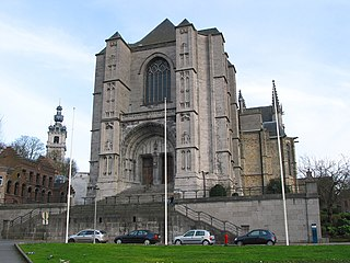 Saint Waltrude Collegiate Church church in Mons, Belgium