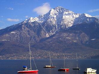 Monte Legnone - Monte Legnone from Lake Como