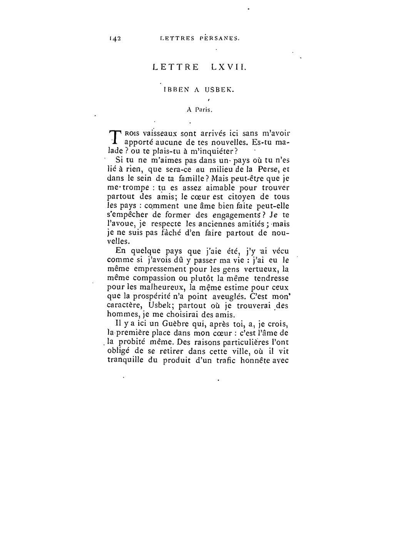 lettre persane Page:Montesquieu   Lettres persanes I, 1873.djvu/161   Wikisource lettre persane