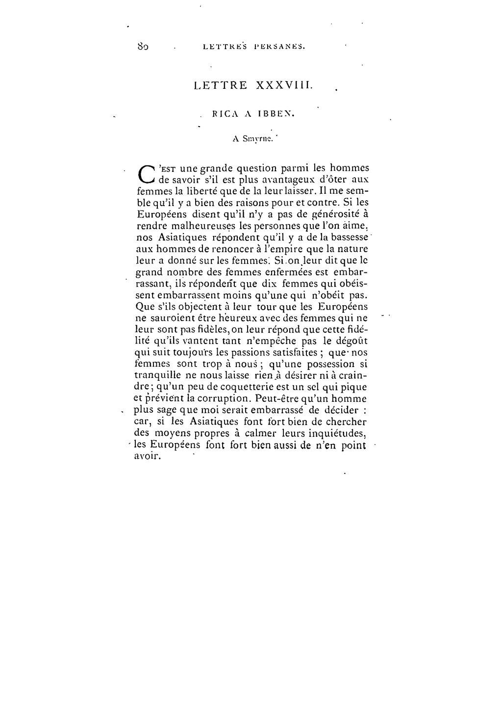 lettre persane Page:Montesquieu   Lettres persanes I, 1873.djvu/99   Wikisource lettre persane