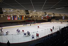 Innenansicht des Moorhead Sports Center