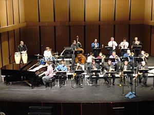 "Moorpark College - The Moorpark College Jazz ""A"" Band, in one of the school's Auditoriums"