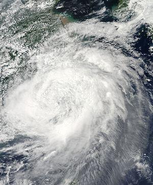 Typhoon Morakot - Tropical Storm Morakot over eastern China on August 9