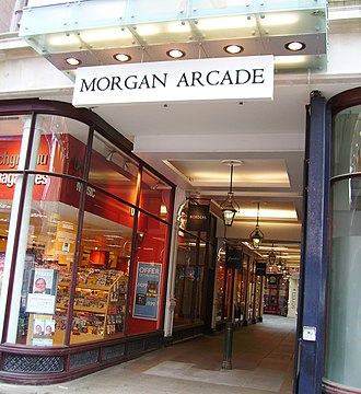 Morgan Arcade - The entrance to the Morgan Arcade, from The Hayes