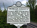 Morgan County Historical Marker Paw Paw Road Woodrow WV 2014 09 16 02.jpg