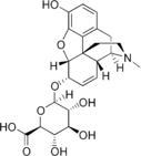 Chemical structure of Morphine 6-glucuronide.
