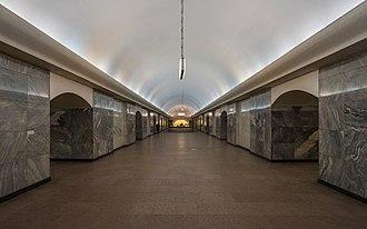 Chistyye Prudy (Moscow Metro) - Image: Mos Metro Chistye Prudy asv 2018 01