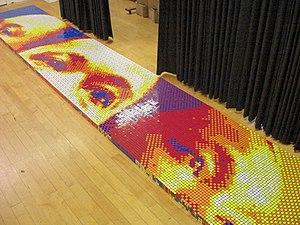 """Rubik's Cube in popular culture - Pete Fecteau's """"Dream Big"""" piece in the making."""