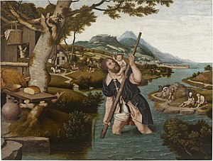 Jan Mostaert - St. Christopher, now in the Museum Mayer van den Bergh
