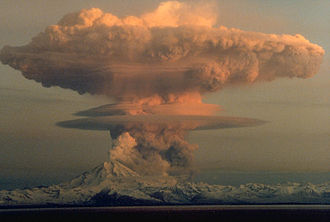 Gas - 21 April 1990 eruption of Mount Redoubt, Alaska, illustrating real gases not in thermodynamic equilibrium.