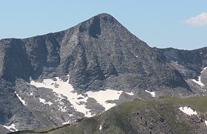 Mount Julian (Colorado) - Mount Julian viewed from Trail Ridge Road