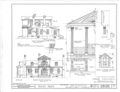 Mount Nebo House, Route 22, Milledgeville, Baldwin County, GA HABS GA,5- ,1- (sheet 2 of 4).png