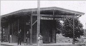 Mount Tabor station - Image: Mount Tabor Station, 1881