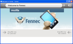 Mozilla Fennec alpha 2 welcome screen.png