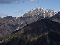 神奈川県最高峰、蛭ヶ岳(1,673 m)
