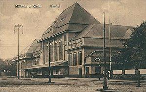 Köln-Mülheim station - New Mulheim station in 1910