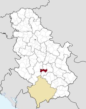 Aleksandrovac - Image: Municipalities of Serbia Aleksandrovac