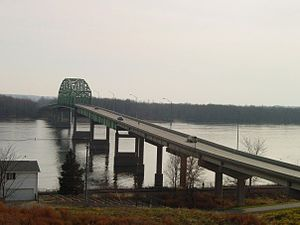 Norbert F. Beckey Bridge - Image: Muscatine ia bridge 2