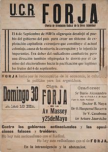 Uni n c vica radical wikipedia la enciclopedia libre - Forja en cordoba ...