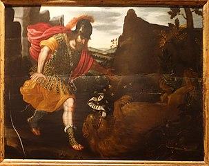 Samson smashing the lion