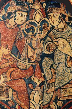Islam in Europe - Muslim musicians at the court of the Norman King Roger II of Sicily, 12th century