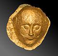 Mycenaean gold funerary mask, NAMAthens, Greece.jpg
