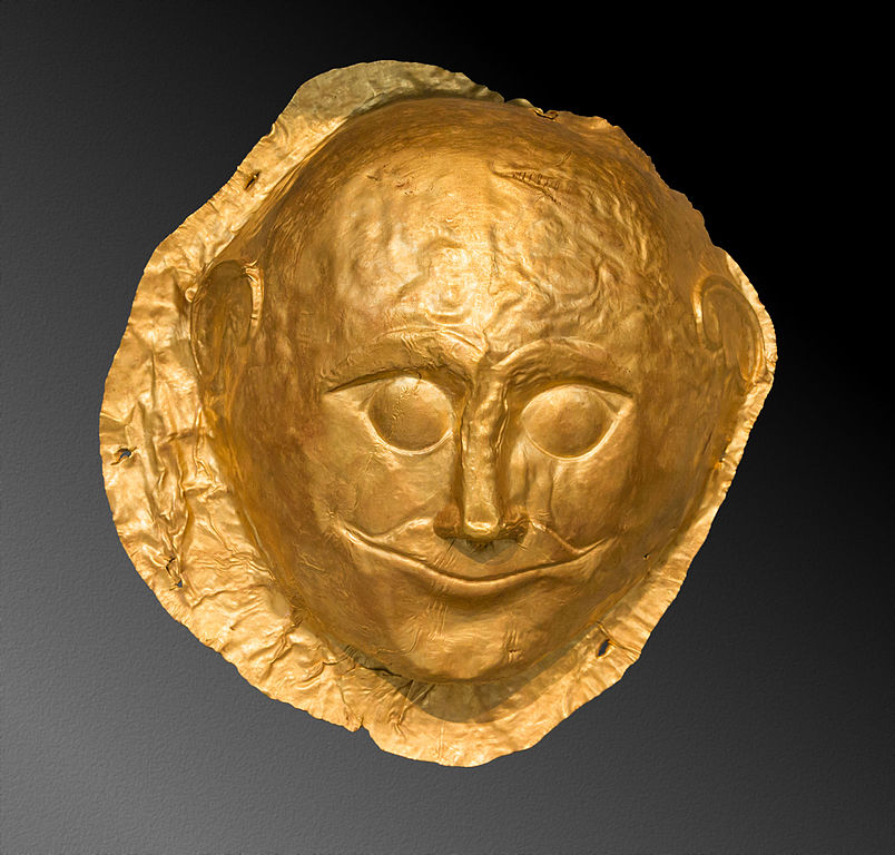 File Mycenaean Gold Funerary Mask Namathens Greece Jpg