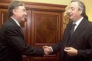 Néstor Kirchner y Horst Kohler-México-12 de enero de 2004
