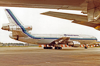 Air France Flight 4590 - Image: N391EA DC 10 30 Eastern Airlines LGW JUL85 (12560034175)