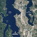 NASA Satellite Captures Super Bowl Cities - Seattle (annotated) (16218805769).jpg