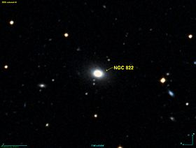 La galaxie elliptique NGC 822