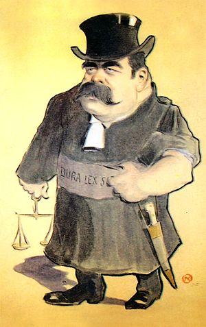 Alexandru Bădărău - Caricature of Bădărău by Nicolae Petrescu-Găină
