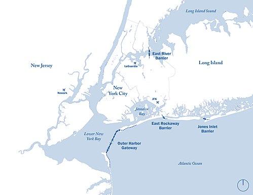 New York Subway Map 2100.New York Harbor Storm Surge Barrier Wikipedia