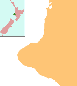 Cardiff, New Zealand is located in Taranaki Region