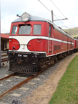 New Zealand EW class locomotive - EW 1806 at Ferrymead Heritage Park.