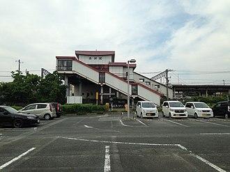 Nagasu Station - The south entrance of Nagasu Station in 2016
