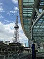 Nagoya TV Tower and glass roof of Oasis 21.jpg