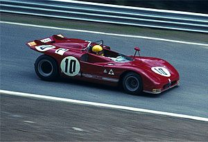 Nanni Galli - Galli driving Alfa Romeo 33.3 at the Nürburgring in 1971