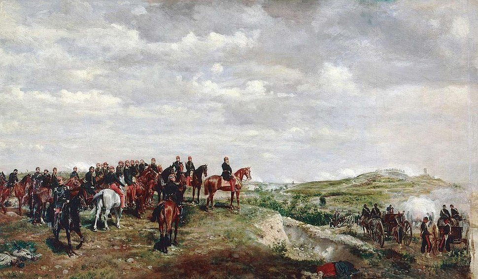 Napoléon III à la bataille de Solférino.