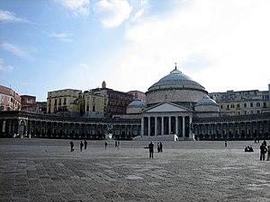 Italian Neoclassical architecture - Image: Napoli piazzaplebiscito 01